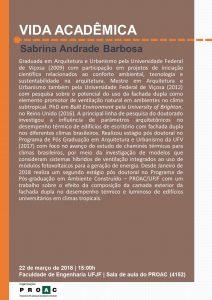 Vida Acadêmica - Sabrina Andrade Barbosa