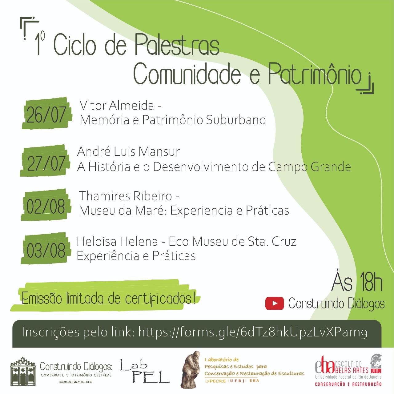Ciclo de Palestras: Comunidade e Patrimônio Cultural