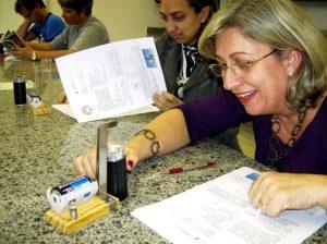 Professores e professoras no curso da Experimentoteca.
