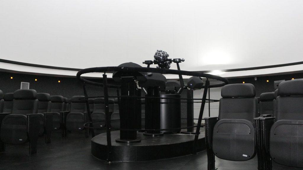 Interior da cúpula do Planetário.