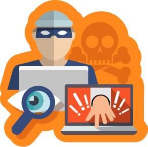 ilustração de elementos que remetem à segurança na internet