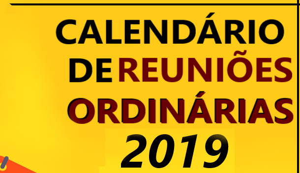 Calendário de Reuniões – 2019