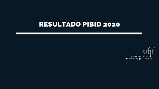 Resultado PIBID 2020