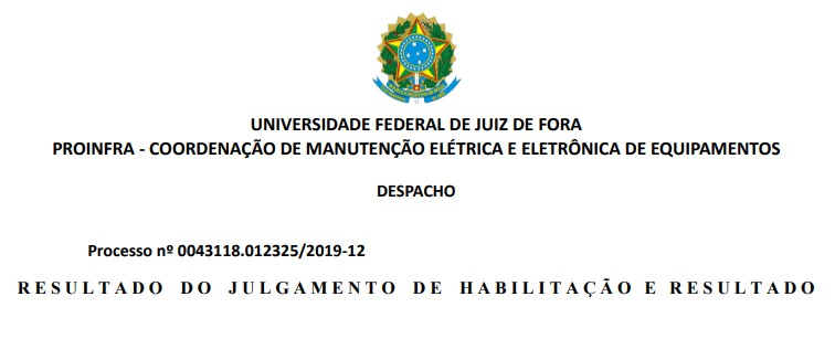 Resultado do Chamamento Público 001/2020-PROINFRA – SISTEMA PÚBLICO DE BICICLETAS COMPARTILHADAS