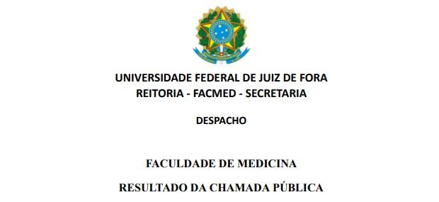 Resultado da Chamada Pública Nº 01/20-CONTRATAÇÃO DE HOSPITAL COM O FIM DE CAMPO DO ENSINO DE OBSTETRÍCIA E GINECOLOGIA