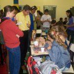 Vários alunos e professores visitaram os trabalhos expostos.