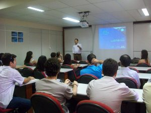 Alexandre Cabral analista de projetos da FINEP fez uma palestra que orientou os novos empreendedores