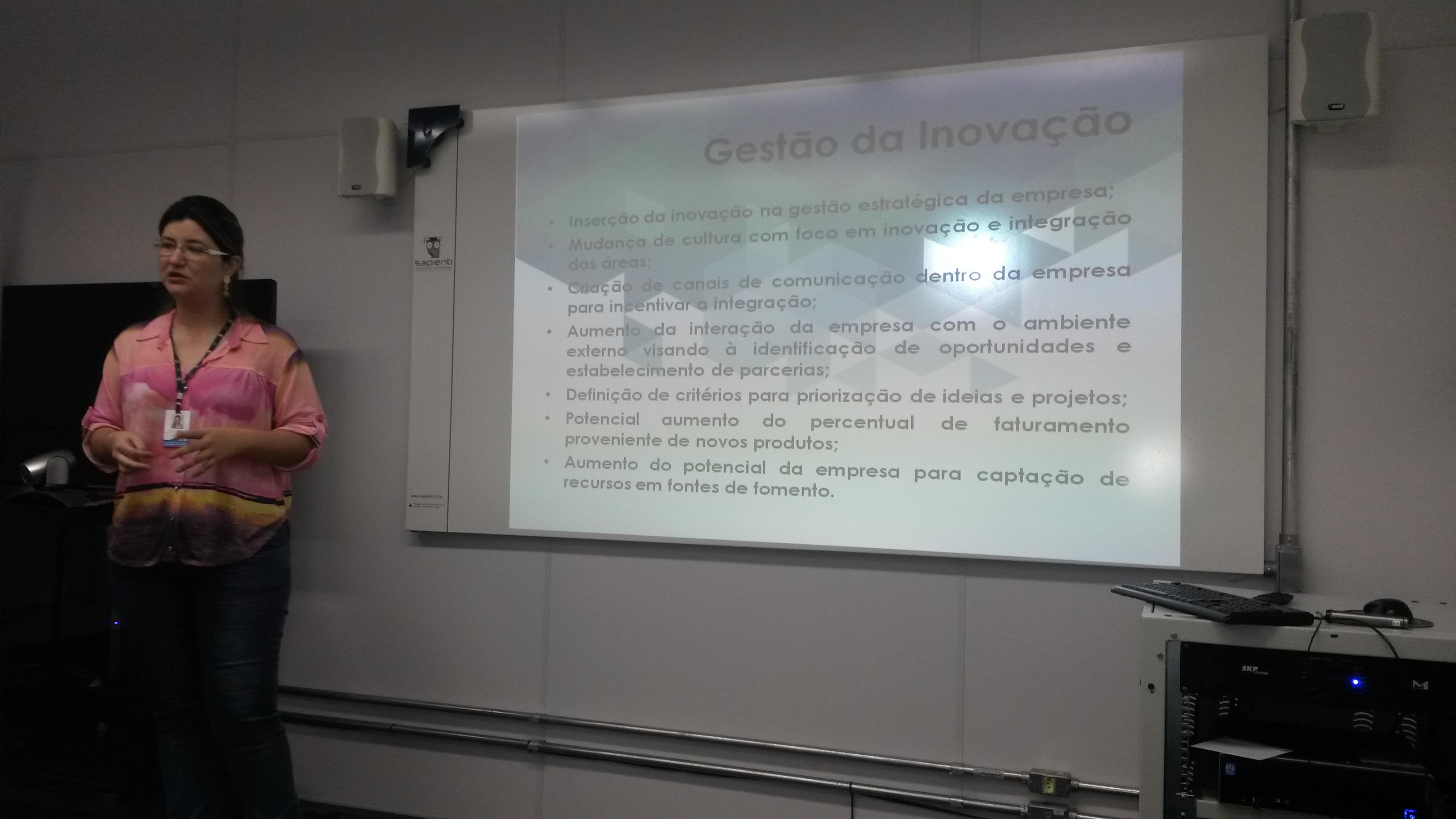 Slides referentes a apresentação da Daniela Vieira, que representou a Incubadora de Base Tecnológica (IBT)