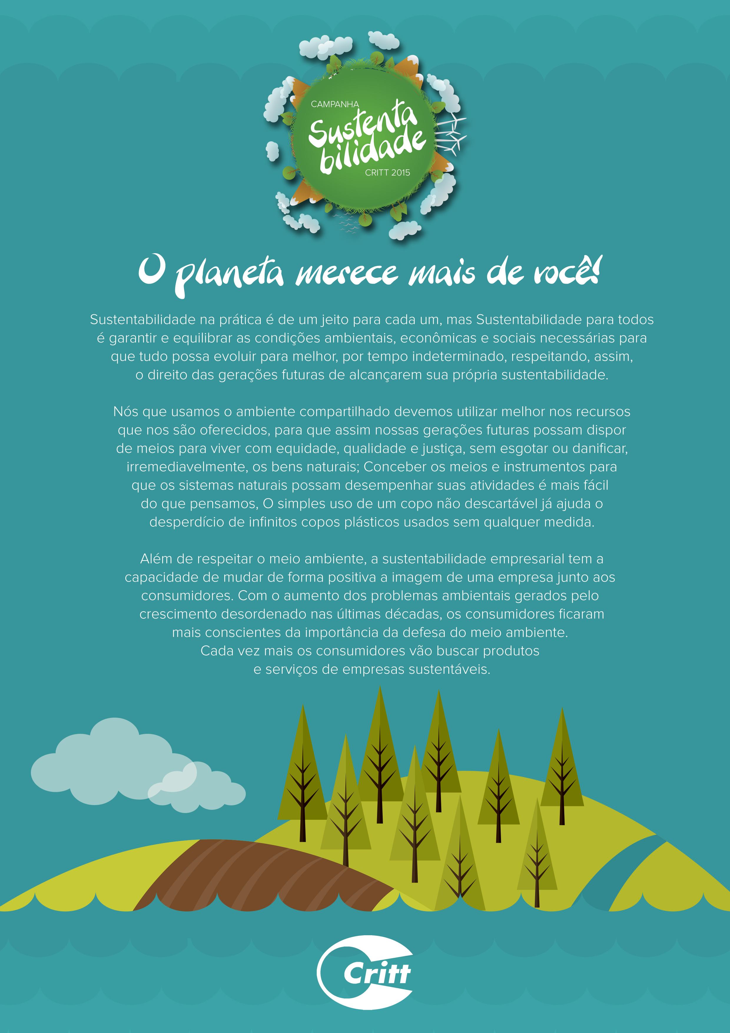 Campanha Sustentabilidade 2015