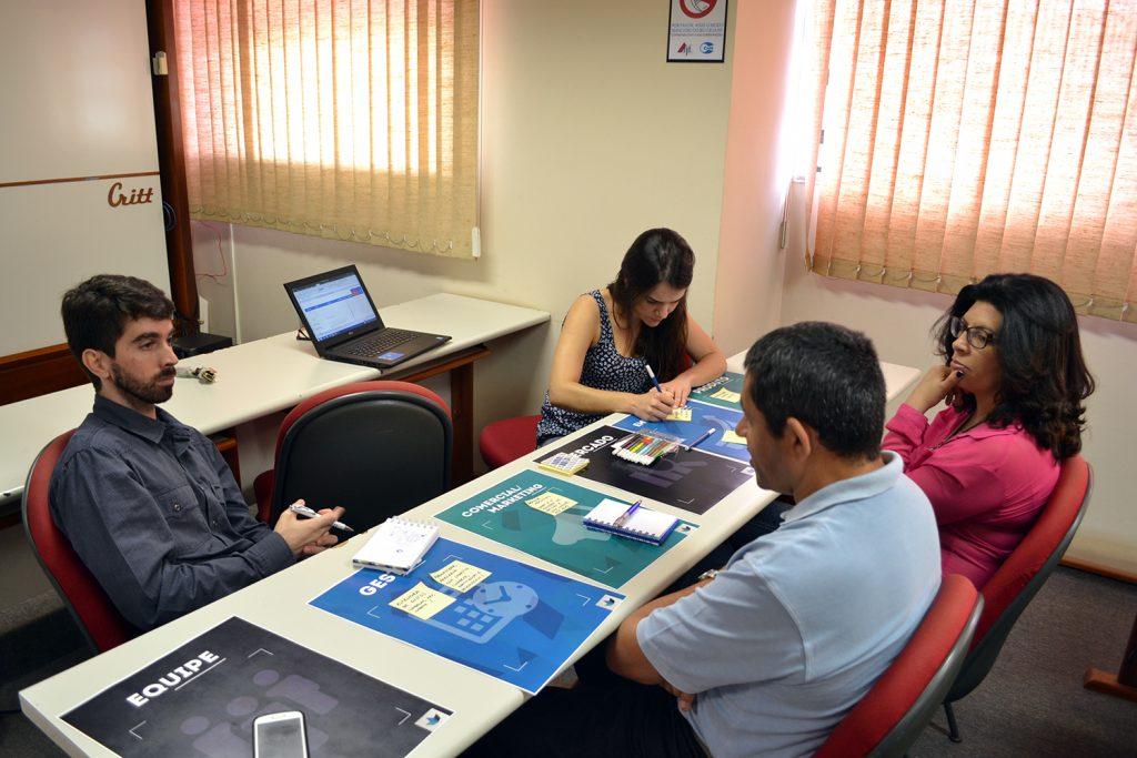 Por meio do diálogo, empresários traçaram próximos passos para a evolução das incubadas. Fotos: Lucas Guedes/UFJF