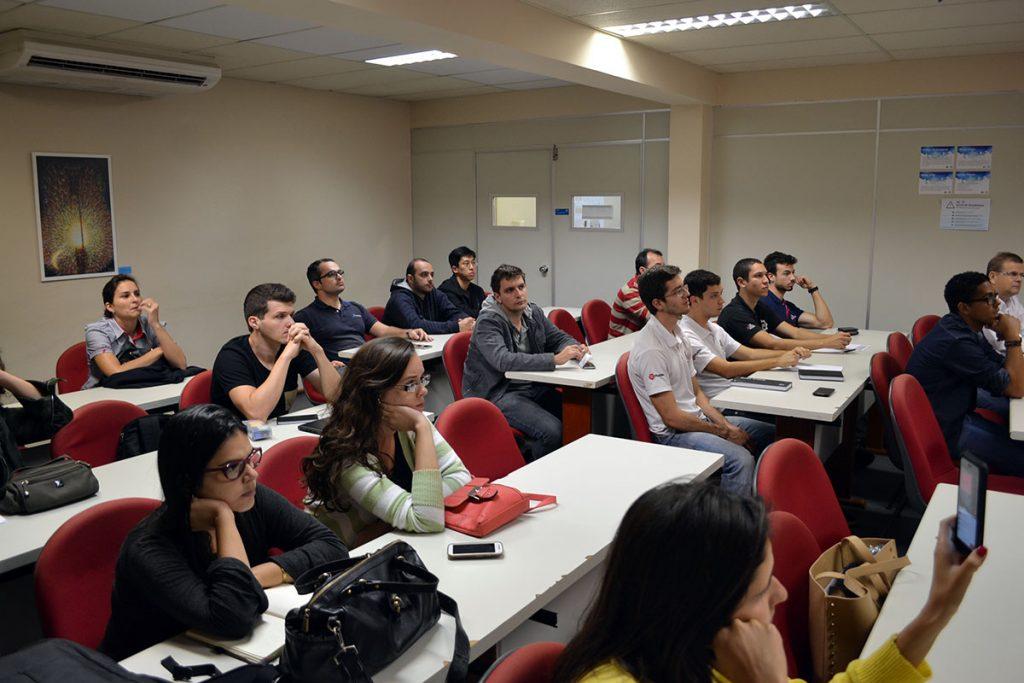 Evento reuniu empresários incubados, empresários juniores, potenciais empreendedores, profissionais autônomos e estudantes em geral. Foto: Lucas Guedes/UFJF