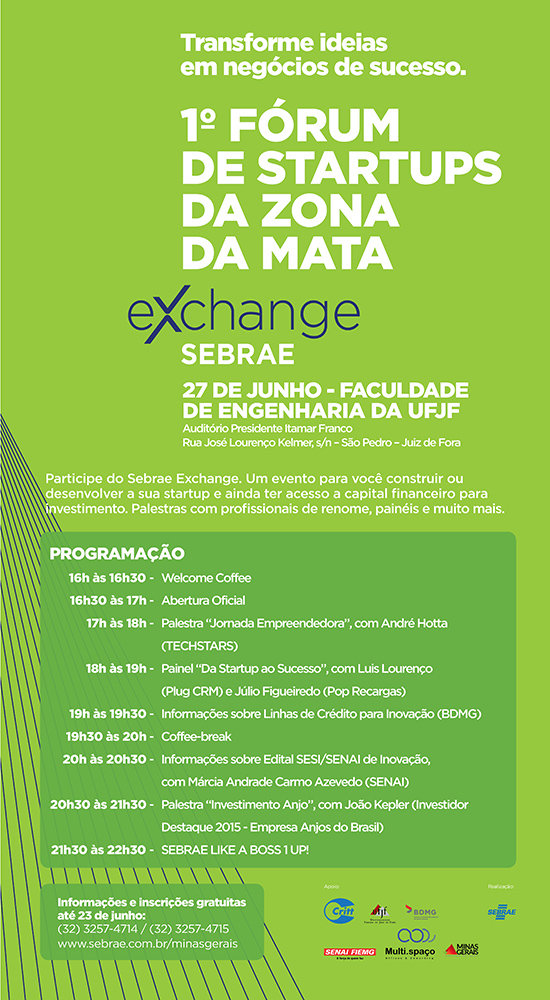 EE-0089-16D MAIL-MKT 1º FORUM DE STARTUPS - EXCHANGE JUIZ DE FORA