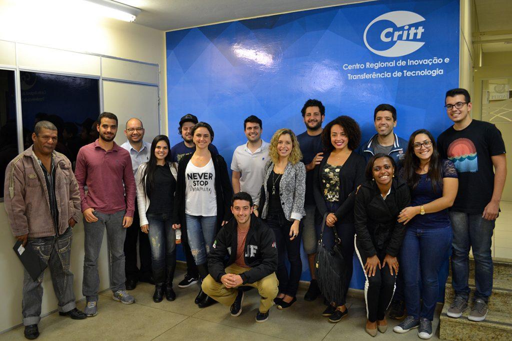 Participantes da segunda edição conheceram o espaço da pré-incubação ao final do último módulo. Foto: Lucas Guedes/UFJF