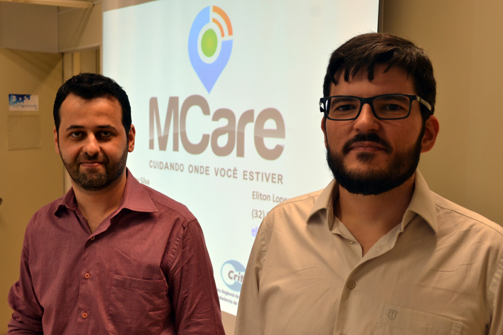 Antigos parceiros de trabalho, Renato e Eliton se juntaram para criar uma solução tecnológica que amplie a segurança de crianças em locais abertos. Foto: Lucas Guedes/UFJF