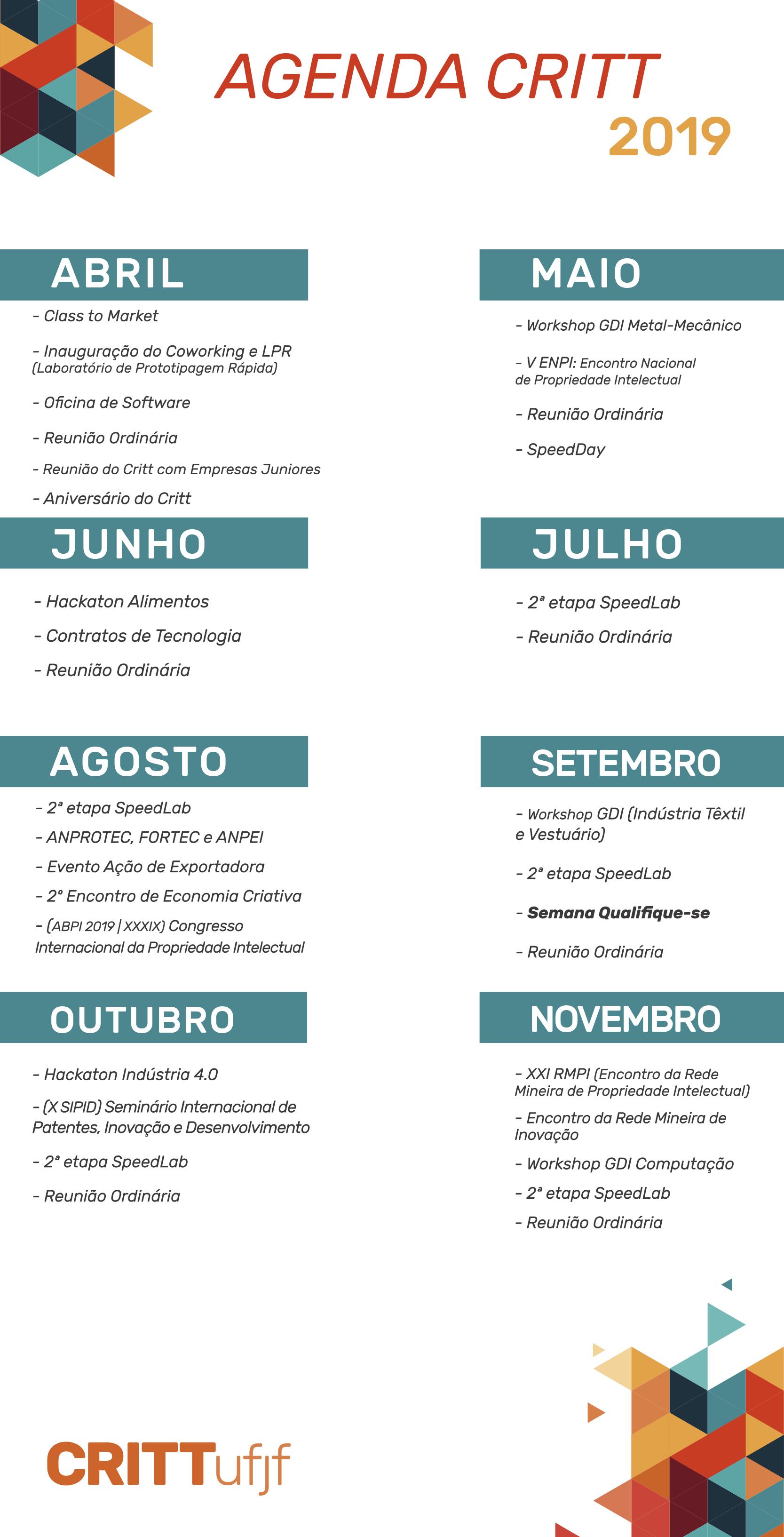 [Atualizado] Calendário de Eventos
