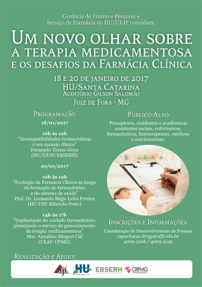 2017 Seminário Farm Clinica HU UFJF