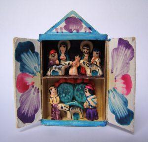 Foto do Presépio na Caixa de fósforo, originário da Bolívia