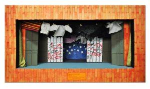 """Maquete da montagem """"Estórias de lenços e ventos"""", de Illo Krugli (1978)"""