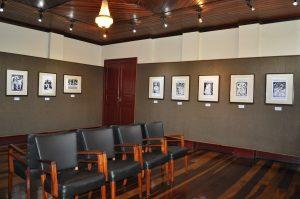 Vista panorâmica da exposição, na Galeria de Arte do Forum da Cultura