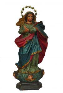 Imagem de Nossa Senhora da Conceição  é uma das peças em destaque