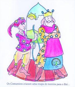 """Mostra conta com ilustrações da peça """"O rei Pavão"""", em cartaz sábados e domingos, às 16h45, até o dia 28 de junho"""