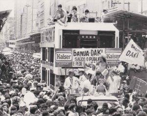 Desfile da Banda Daki, na década de 1970. (Foto Acervo de Zé Kodak)