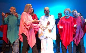 Trecho da peça apresentada entre os dias 28 e 30 de novembro, no Forum da Cultura da UFJF. Foto: José Luiz Ribeiro.