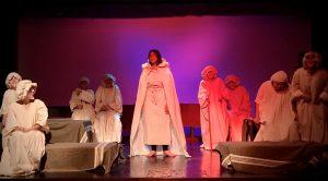 Trecho da peça apresentada entre os dias 21 e 23 de novembro, no Forum da Cultura da UFJF. Foto: Márcia Falabella.