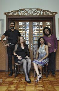 Alexandre, Tâmara, Michelle e Elmir se apresentarão ao lado da pianista Letícia Villela no Forum da Cultura da UFJF. Foto: Equipe Forum da Cultura.