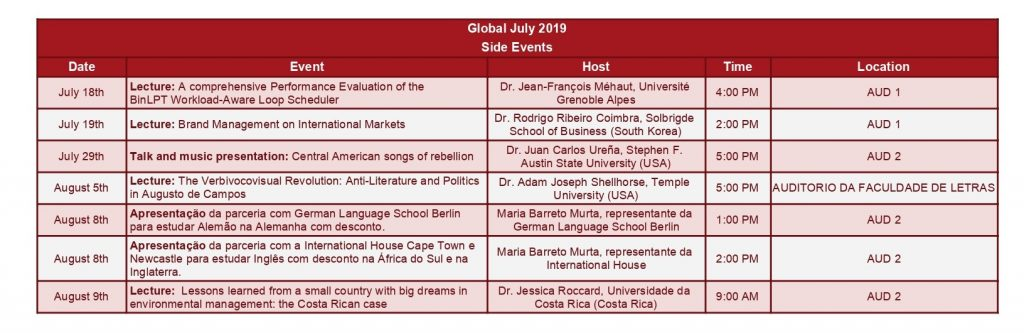 Horarios GJP 2019 - Side Events 05-08