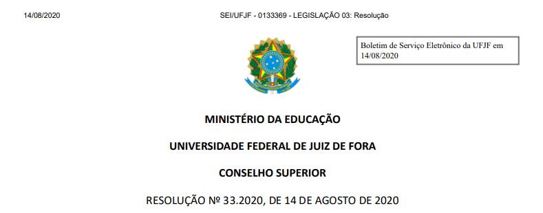 RESOLUÇÃO Nº 33.2020