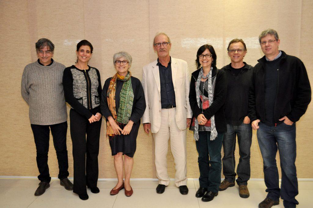 A Equipe da UFJF | Internacional reunida com representantes das faculdades de Arquitetura e Engenharia da UFJF e da ENSA-Toulouse