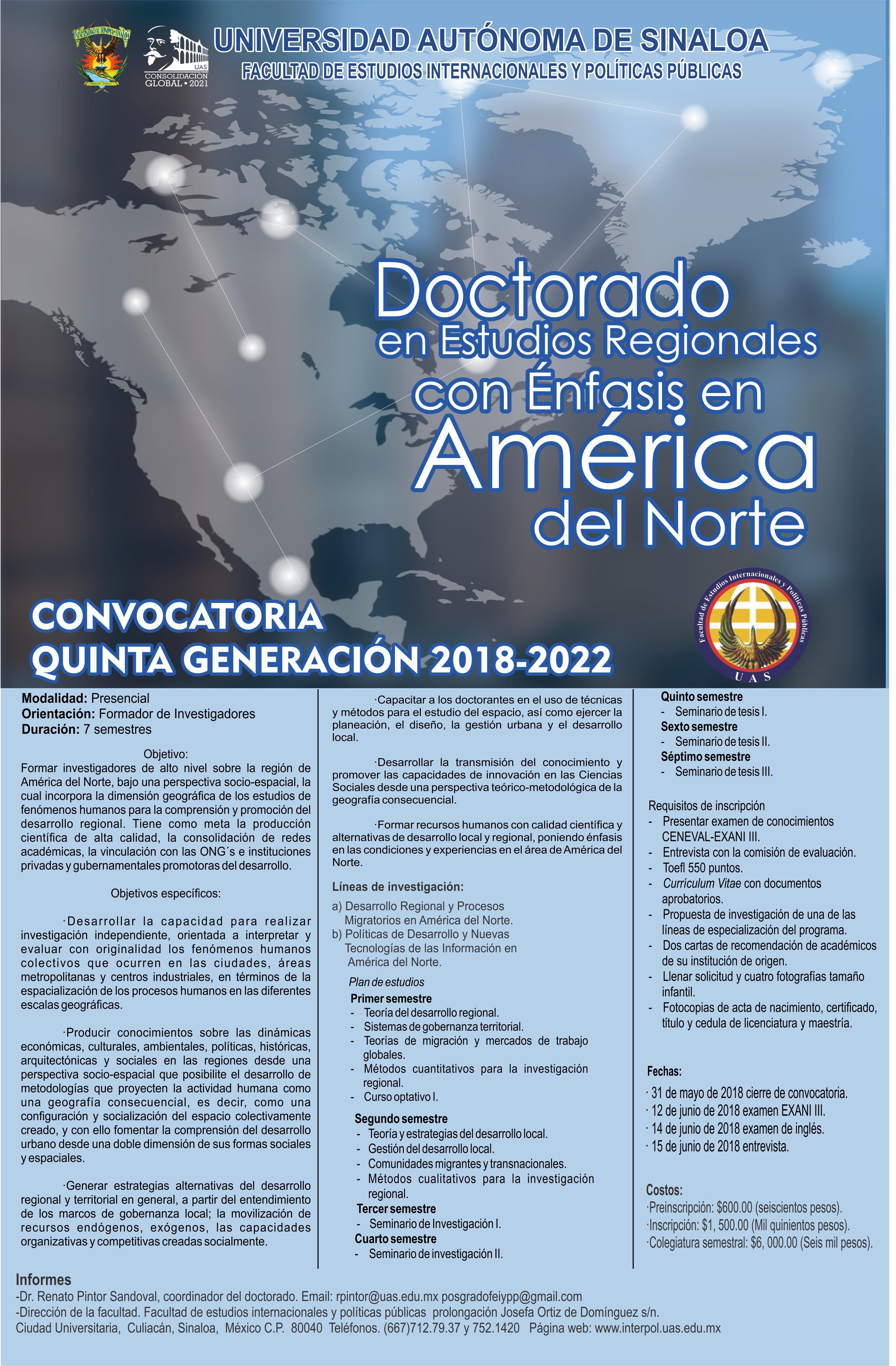 Doutorado em Estudos Regionais com Ênfase na América do Norte