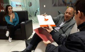 O representante do Consulado Geral do Canadá, Franz Brandenberger, apresentou possibilidades de parcerias acadêmicas entre o Brasil e o Canadá.