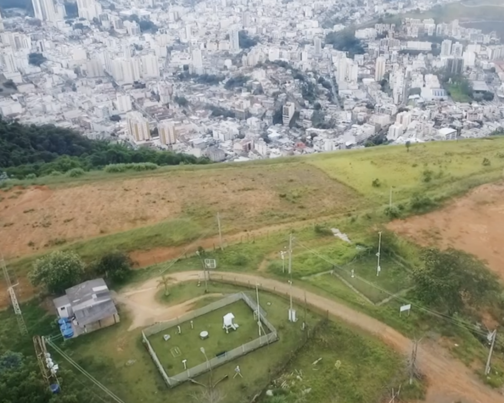 Foto aérea da Estação climatológica principal de Juiz de Fora