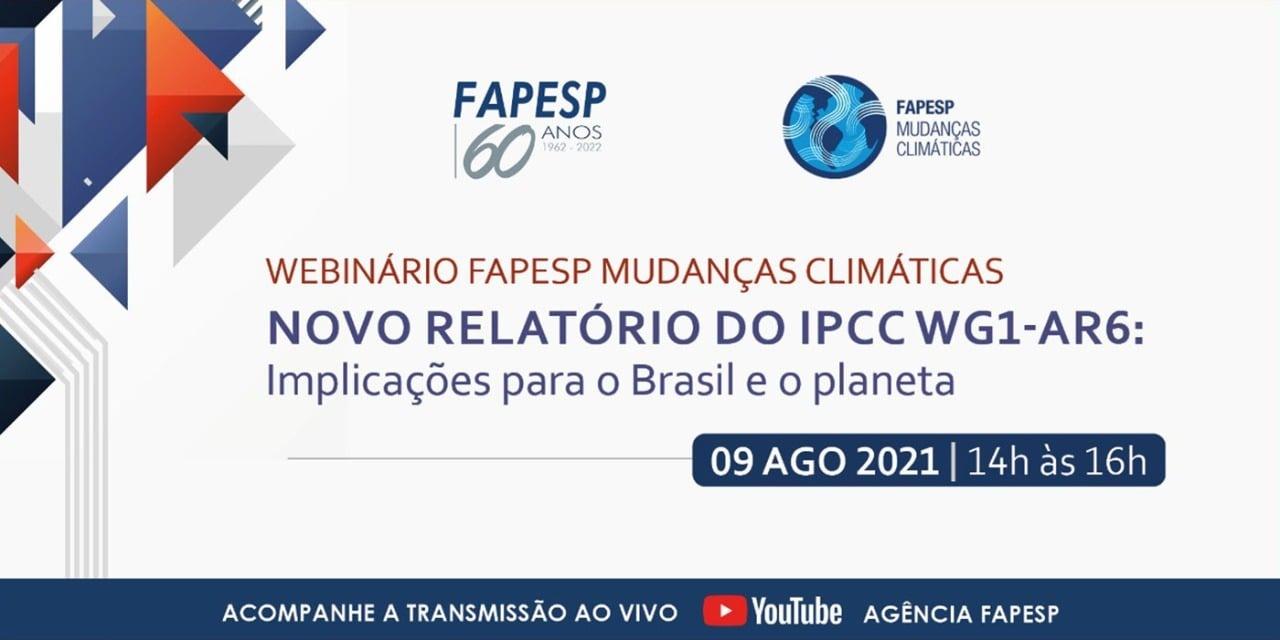 Webinário: Novo relatório do IPCC Grupo de Trabalho 1
