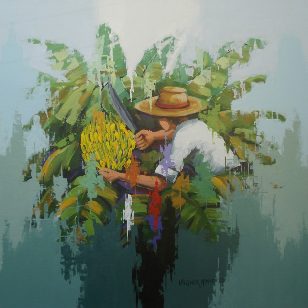 Bananas - 70 x 70 - a.s.t.