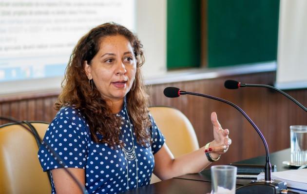 Ana Lívia destaca  Destacamos o edital de apoio a programas e projetos de extensão, uma ação inédita na UFJF Foto Géssica Leine