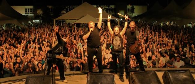 Publico lotou a Praça Cívia em várias edições, como a do show da banda Velotrol (Foto: Ângelo Abreu)