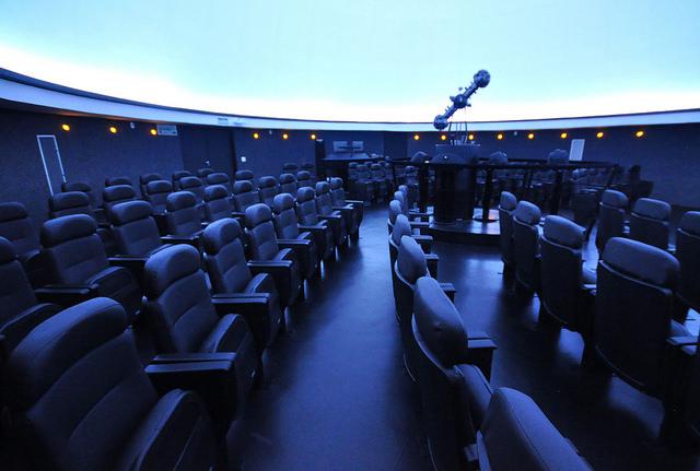 Com cúpula de 12 metros de diâmetro, o Planetário do Centro de Ciências é o maior de Minas Gerais (Foto: Alexandre Dornelas/UFJF)