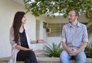 Mariana Galliano e Rodrigo Almeida destacam a importância do CPA para os graduandos (Foto: Twin Alvarenga)