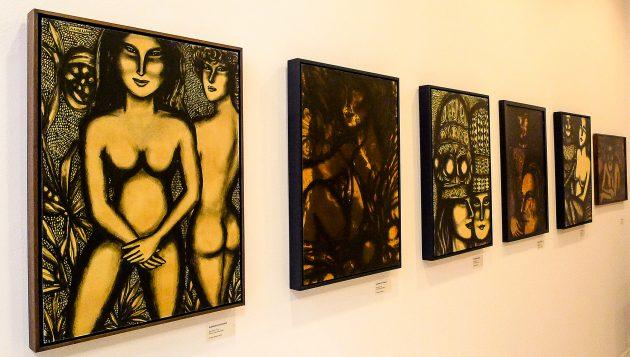 Nas pinturas, figuras femininas, nuas ou seminuas, sedutoras e enigmáticas, encaram o espectador (Foto: Divulgação)