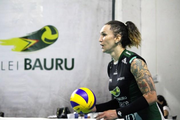 Tifanny Abreu,  primeira jogadora transgênero do vôlei profissional brasileiro (Foto: Neide Carlos/Vôlei Bauru)