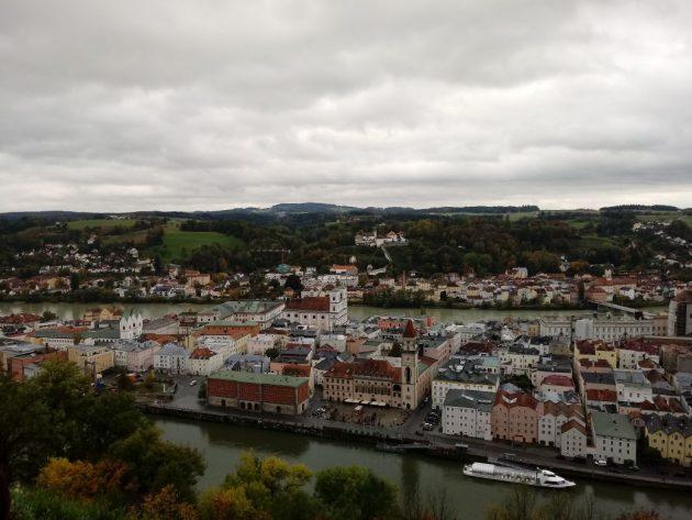 Passau é destino turístico dos passeios de barcos pelo Danúbio,o segundo maior rio da Europa (foto: Warley Almeida)