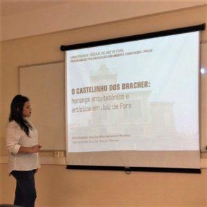 Mestranda Ana Carolina Moreira também investigou modificações do prédio ao longo das décadas (Foto: arquivo pessoal)
