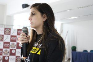 O papel do odontolegista na identificação humana foi o tema da palestra de Lais Araújo. (Foto: Sebastião Junior)