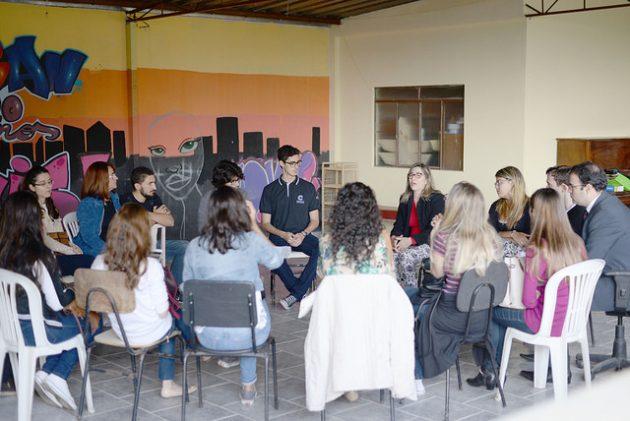 Extensão levou serviços e informações de Direito, Serviço Social e Medicina (Foto: Twin Alvarenga/UFJF)