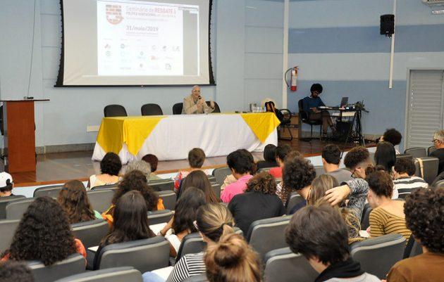 Professor Frederico Riani abordou o tema em evento da Arquitetura (Alexandre Dornelas/UFJF)