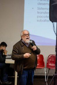"""""""Sem financiamento público não há inovação, pois gera incertezas e riscos"""", acredita Delgado (Foto: Gustavo Tempone/UFJF)"""