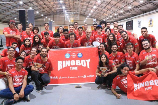 Torneio de robótica ocorreu no Instituto Nacional de Telecomunicações (Foto: Divulgação/Equipe Rinobot)